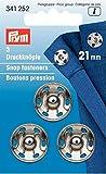Prym MS silberfarbig 21 mm Annäh-Druckknopf, Messing, Silber, 0.2 x 0.2 x 0.3 cm, 3-Einheiten
