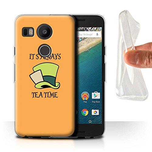 Stuff4® Gel TPU Hülle/Case für LG Nexus 5X / Mad Hatter/Teezeit Muster/Fantasie-Wunderland-Kunst Kollektion