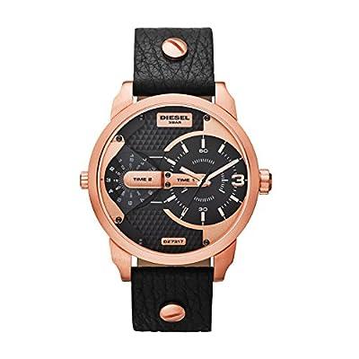 Diesel - Reloj de Cuarzo para Hombre, correa de Cuero color Negro