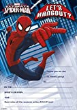 MARVEL ULTIMATE SPIDER-MAN PARTY INVITATIONS (Pack of 20) - Invite Party Card By Ukg