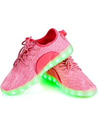 Shinmax LED Shoes 7 Colors Light Up Shoes Of Unisex Men Women With USB Chargable For Thanksgiving Day Valentine's Day Party Christmas Hallowen Gift With CE certificate