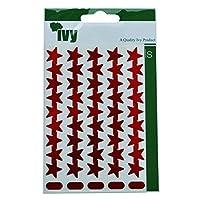 Ivy 15mm Red Self Adhesive Merit Stars Reward Stickers Sticky Labels (135 Stickers)