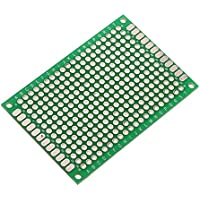 SODIAL(R) 4pcs Doble-Lado Prototipo FR-4 PCB Stripboard universal tarjetas de circuitos impresos 4 * 6cm Tamano