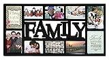 Close Up 3D Fotorahmen Family für 10 Fotos- Qualität Collage Bilderrahmen XL - ca. 73x37 cm - schwarz