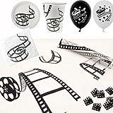 74 Teile Dekorations-Set Motto-Party Hollywood in schwarz & weiß / Themen-Party Movie Film Kino - 74 Teile / Party-Deko Set / Geburtstags-Feier / Geburtstags-Deko / Party-Dekoration