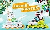 meteor® Inliner Rollen Inline-Skates Damen Inliner Kinder Original Inline Skates ABEC7 Inliner mit Einstellbarer Größe Kinder Inline-Skates