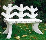 Sitzbank für Kinder (S426) kleine Gartenfiguren Gartendeko Gartenbank Steinguss H: 54cm