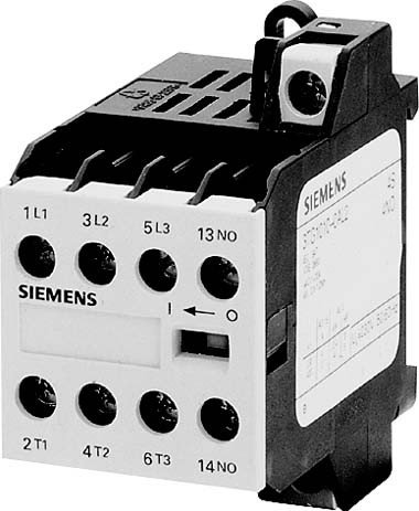 SIEMENS SIRIUS - CONTACTOR CONEXION TORNILLO 2NA+1NC CORRIENTE ALTERNA 230/220V 50/60HZ