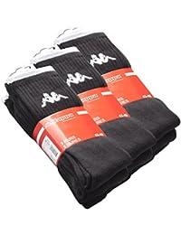 3-6-9 oder 12 Paar Original KAPPA Tennissocken-Sportsocken schwarz (Gr 39-42)