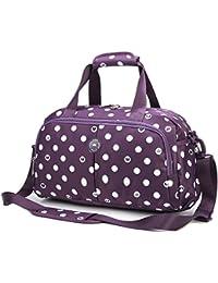 AOKE Nylon Crossbody Weekender Tote Travel Duffel Bag Hombro Equipaje Gym Purse para viajar | Holiday carry on Bag 20L con bloqueo de dígitos de regalo gratis
