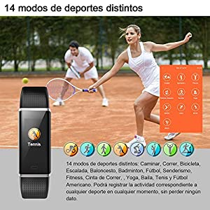 HOMSCAM Activity Bracelet, Smart Bracelet Display Color Waterproof IP68 Watch with Heart Rate Monitor, Camera Capture, Notification of Messages etc for Android and iOS Mobile Phone