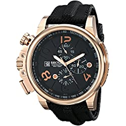Sector Men's Quartz Watch with Black Dial Analogue Display and Black Leather Strap R3271776003