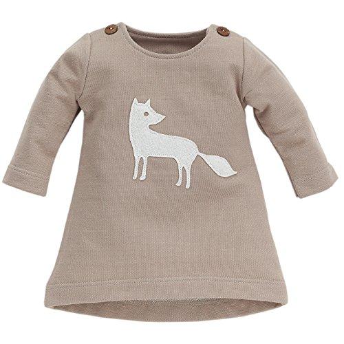 Pinokio -Smart Fox - Kleid - Baby, Mädchen - Taupe mit schönem Fuchs, 100% Baumwolle (86)