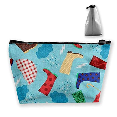 omen Cosmetic Bags Portable Pouch Trapezoidal Storage Bag Travel Bag with Zipper ()