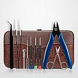 Vape Zubehör Werkzeugset 9 in 1 DIY E-Zigarette Kit mit Leder Aufbewahrungsbox