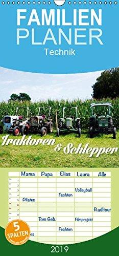 Traktoren und Schlepper - Familienplaner hoch (Wandkalender 2019, 21 cm x 45 cm, hoch)