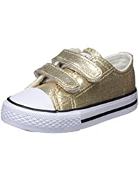 12179acd Conguitos Sneaker Metalizado Velcro, Zapatillas sin Cordones para Niñas