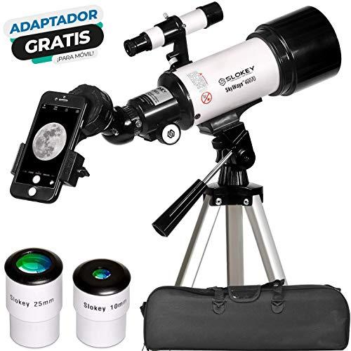 Telescopio Astronómico Portátil y Potente 16x-120x, Fácil de Montar y Usar, Ideal para...