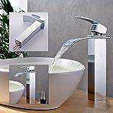 BONADE, Rubinetto miscelatore monoleva a cascata per lavabo (bagno)