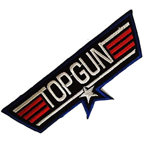 Top Gun Movie Films Patch ''12,5 x 4,5 cm'' - Parche Parches Termoadhesivos Parche Bordado Parches Bordados Parches Para La Ropa Parches La Ropa Termoadhesivo Apliques Iron on Patch Iron-On