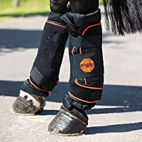 Horseware Rambo Ionic Stable Boots X Full Black/Orange & Black