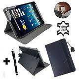 Echtleder Tasche für Jay-tech PA7807 19,93cm 7,85 zoll Tablet PC mit Aufstellfunktion - Schwarz leder 7,85 zoll