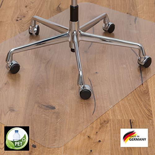 KAISER PLASTIC® Bodenschutzmatte | Made-In-Germany | für Hartboden | 90 x 120 cm | aus PET