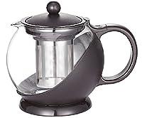 Uniware Tea & Coffee Pot with Filter, 1250ml, Black (Single Piece)