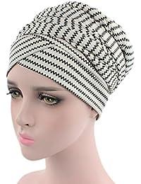 Sombrero para mujer con estampado de turbante y quimio  gorras de pelo para  pérdida de 03bf1f087d7