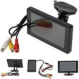 "KKmoon TFT LCD 4.3"" Monitor de Retrovisor del Coche de Colores Super Fino para DVD Cámara VCR"