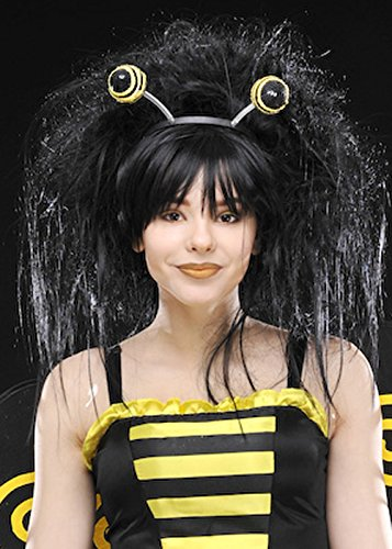 Womens Deluxe Bumble Bee Perücke mit Boppers