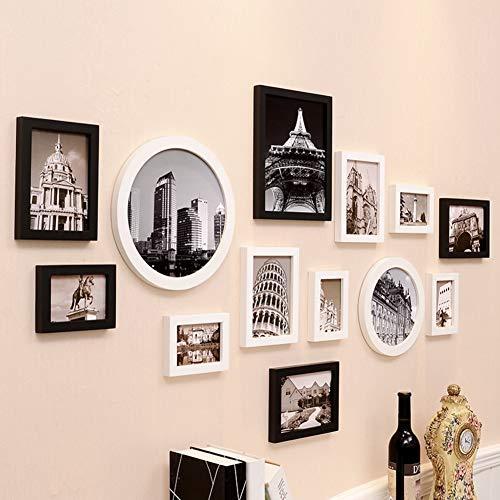 HAOLY Massivholz Fotowand,Dekoration Hochzeit Malerei Ungültige Anforderung,Wand Kombination Moderne Einfache Fotowand-m -