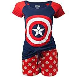 Capitán América Shield Emblem Pijama azul/rojo L