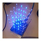 4X4X4 Blau LED Licht Würfel Kit 3D LED DIY Kit Elektronische Suite für Arduino Smart Elektronik LED Cube Arduino Kit DIY Elektronische