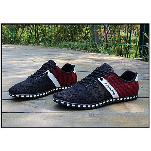 Generic, Sneaker uomo Black-Red