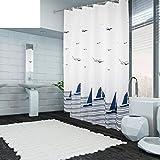 ZBB der Duschvorhang WC Wasserdicht Sehr Dicken Duschvorhänge für Bad Anti-J 180 X 190 cm (71 X 75 cm)