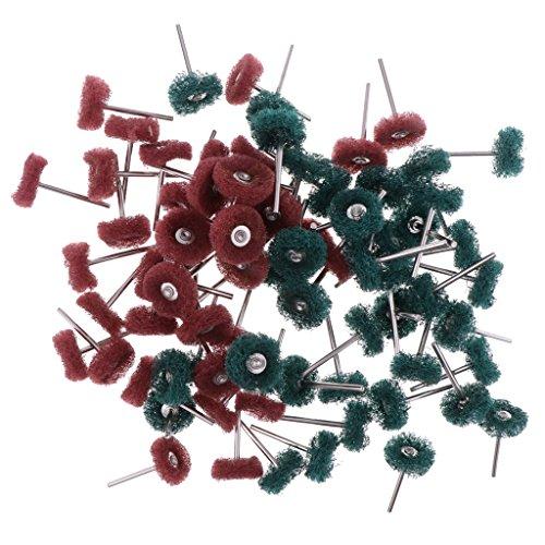 Sharplace 80pcs Multifunktions Schleifscheibe Set für Drehwerkzeug, Metall Schleifaufsatz mit Stiel