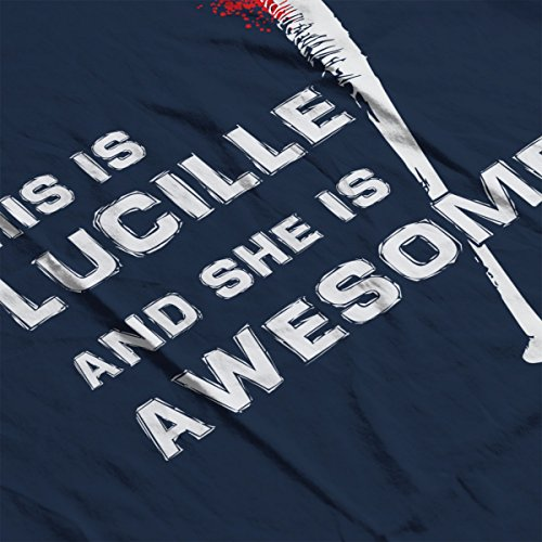 This Is Lucille And She Is Awesome Walking Dead Men's Vest Navy Blue