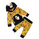 Funnycokid Infant delle neonate fototecnica vestiti a maniche lunghe con Strega stampa Costume di Halloween Demone