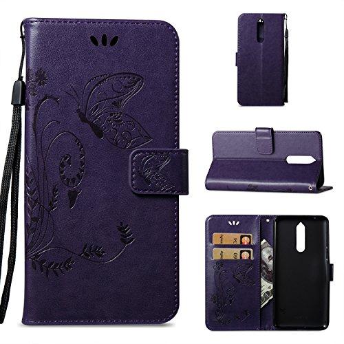 Custodia Per Nokia 8, Custodia Portafoglio In Pelle Pu Per Nokia 8 Pu Custodia Protettiva Per Portafoglio In Pelle Pu, Bonroy® Custodia In Pelle Sintetica Per Pu Custodia In Pelle
