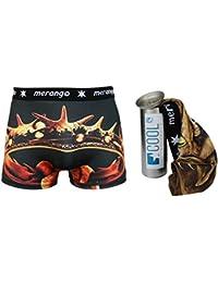 COOL24 Boxers en microfibre pour homme - VIP - motifs exclusifs inclus boîte-cadeau en metal