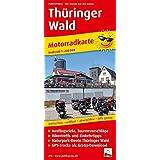Thüringer Wald: Motorradkarte mit Tourenvorschlägen, GPS-Tracks als Gratis-Download, Ausflugszielen, Einkehr- & Freizeittipps, wetterfest, reissfest, abwischbar, GPS-genau. 1:200000