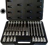 SYTO24, 30tlg. Innen-Sechskant (+15% Härtegrad, da S2-Stahl) 1/2' Steckschlüssel-Satz, 5-19mm Bit-Einsatz Werkzeug