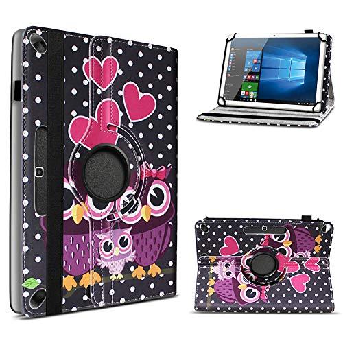 UC-Express Schutzhülle kompatibel für Archos Access 101 3G Tablet aus Kunstleder mit Standfunktion 360° Drehbar Hülle Ständer Tasche 10.1 Zoll Cover Case, Farbe:Motiv 10 101 Tasche