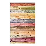 #8: Colorful Wood Grain Photo Backgrounds Cloth Photographic Studio Backdrops 0.9*1.5m