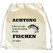 Mister Merchandise sac à dos de courses Es kann sein, dass ich spontan anfange über das Fischen zu reden Drawstring Bag