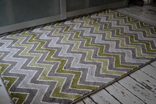 Wolle Fühlen 160x 230cm beige mit Grün Whitford Portland Teppich. UK Festland Porto nur -