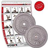 POWRX Hantelscheiben Set | verschiedene Gewichtsvarianten 5-40 kg | Gusseisen Gewichte | 30 mm Bohrung (2 x 15 kg)