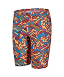 Speedo Jungen Clash Block Schwimmhose mit Allover-Print Swimwear, Danube/Risk Red/Mango, 30