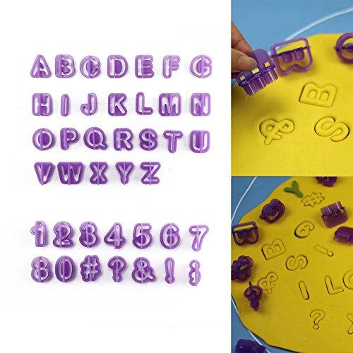 AllRight 40 Teile Ausstechformen Buchstaben Und Zahlen Ausstecher Fondant Zum Professionellen Torten Dekorieren